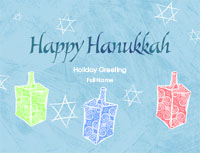 Hanukkah4 Greeting Card (4x55)
